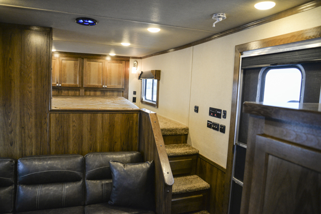 Interior Image Within a SL8X9SR Laramie Horse Trailers | SMC Trailers