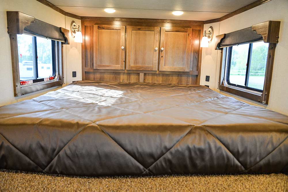 Bed in a Laramie SLX8FK Horse Trailer | SMC Trailers