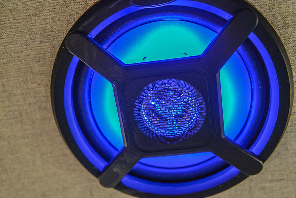 LED Speakers in a Laramie SLX8FK Horse Trailer | SMC Trailers