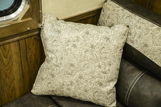 Couch in a Laramie SL8X12SR Horse Trailer | SMC Trailers