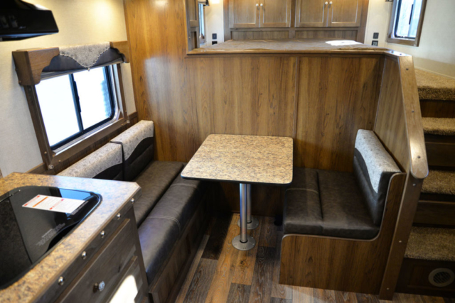 Dinette in SL8X9DR Laramie | SMC Trailers