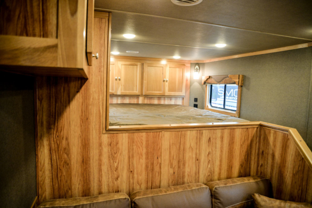 Bedding Area in a SL8X13SSR Laramie Horse Trailers | SMC Trailers