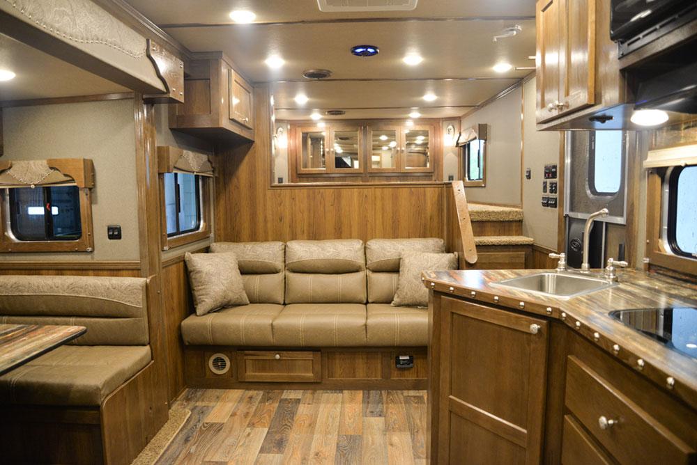 Living Quarters in a SL8X13SSR Laramie Horse Trailers | SMC Trailers