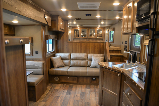 Living space in Laramie Livestock SLE8X1413SSR (With Bunks) | SMC Trailers