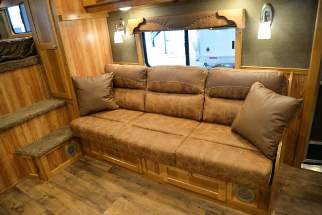 Sofa in Laramie Livestock SLE8X15DSRK | SMC Trailers