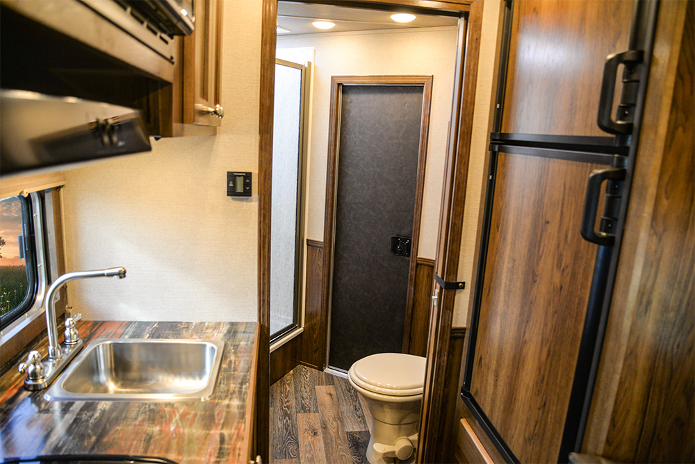 Rear Half of Living Area in a SLX10RK Laramie Horse Trailers | SMC Trailers