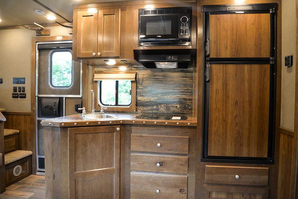 Kitchen in Laramie Livestock SLE8X1413SSR (With Bunks) | SMC Trailers