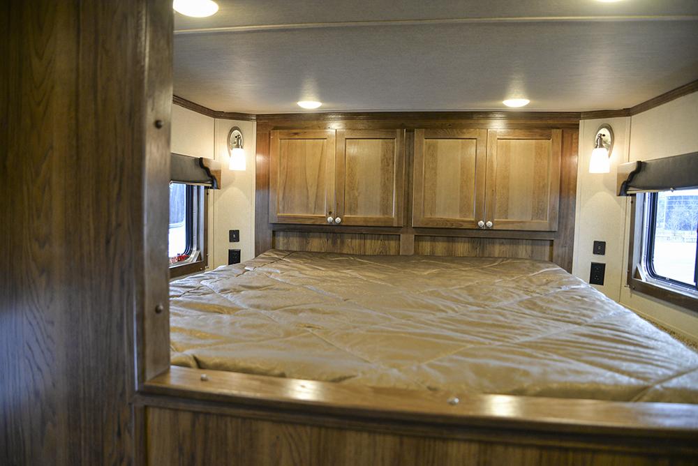 Bedding Area in a SL8X9SR Laramie Horse Trailers | SMC Trailers
