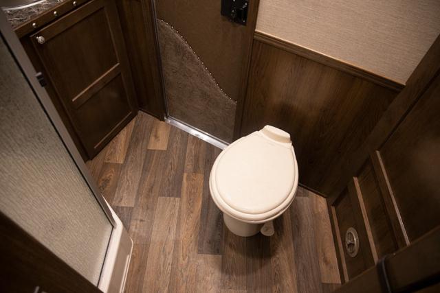 Bathroom in a SL8X11SRK   SMC Trailers