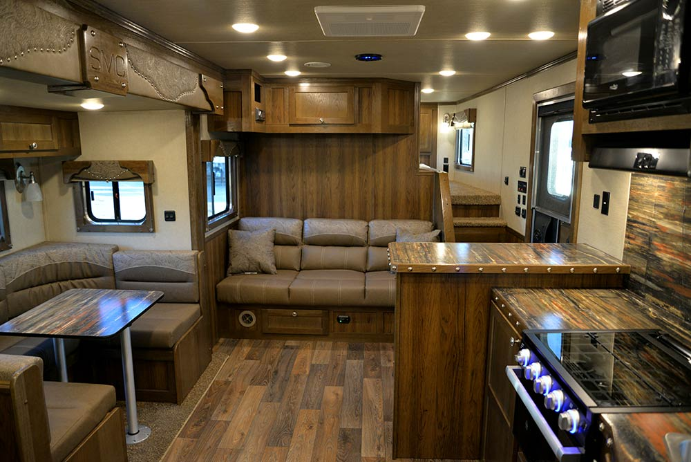 Living Area in Laramie Livestock SLE8X16SRB | SMC Trailers