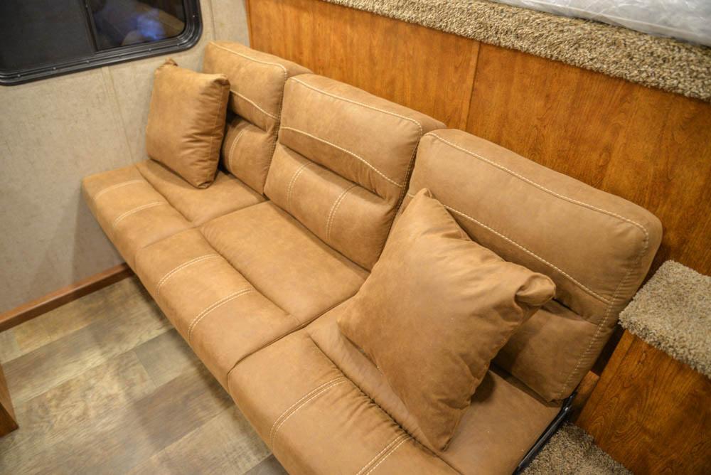 Sofa in SP8X9SR Patriot Edition Horse Trailer | SMC Trailers