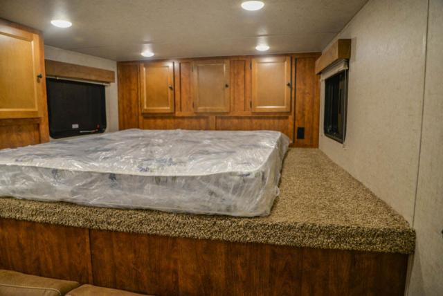 Bed in Gooseneck of SP8X9SR Patriot Edition Horse Trailer | SMC Trailers
