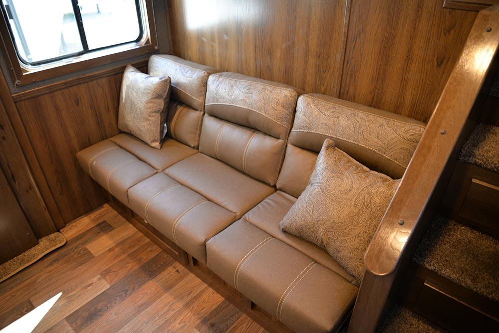 Sofa in SLE8X18SBBSRB Laramie Edition Livestock Trailer | SMC Trailers
