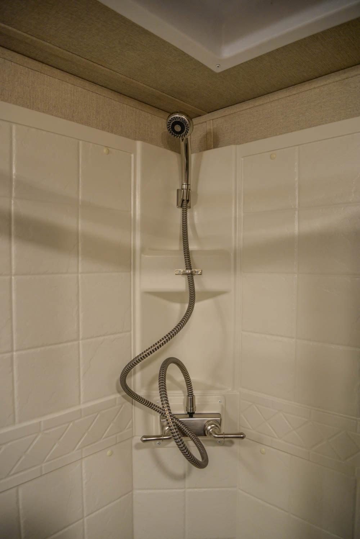 Shower in LTH8X18SCEB Laramie Edition Toy Hauler | SMC Trailers