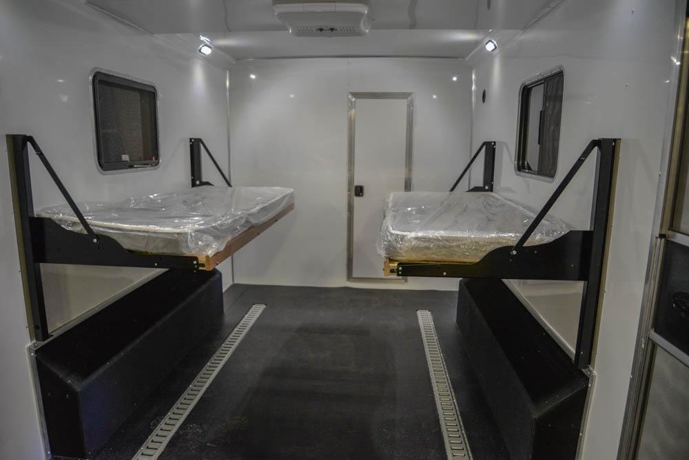 Cargo Area in LTH8X18SCEB Laramie Edition Toy Hauler | SMC Trailers
