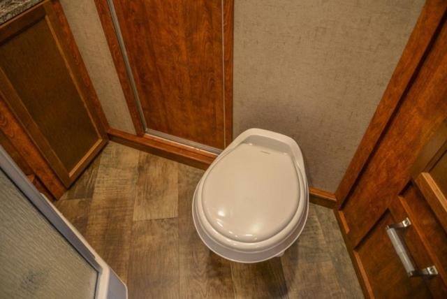 Bathroom in a SP8X11SFK Patriot Edition Horse Trailer | SMC Trailers