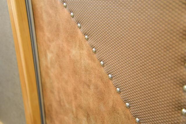 Door Detail in a SL8X8FK Laramie Horse Trailers | SMC Trailers