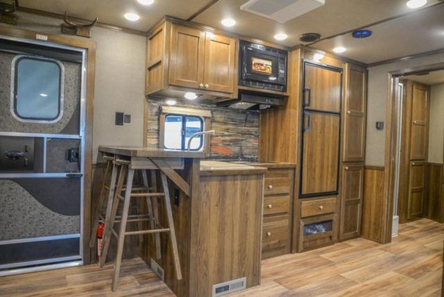 Kitchen Area in a Laramie Livestock SLE8X18SCEB | SMC Trailers
