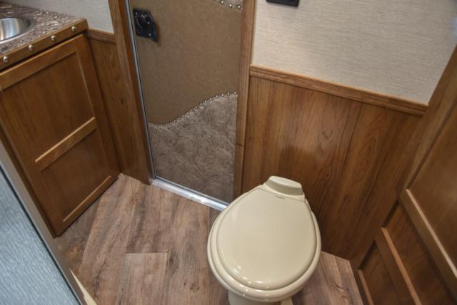 Restroom in a SL8X14SSR | SMC Trailers