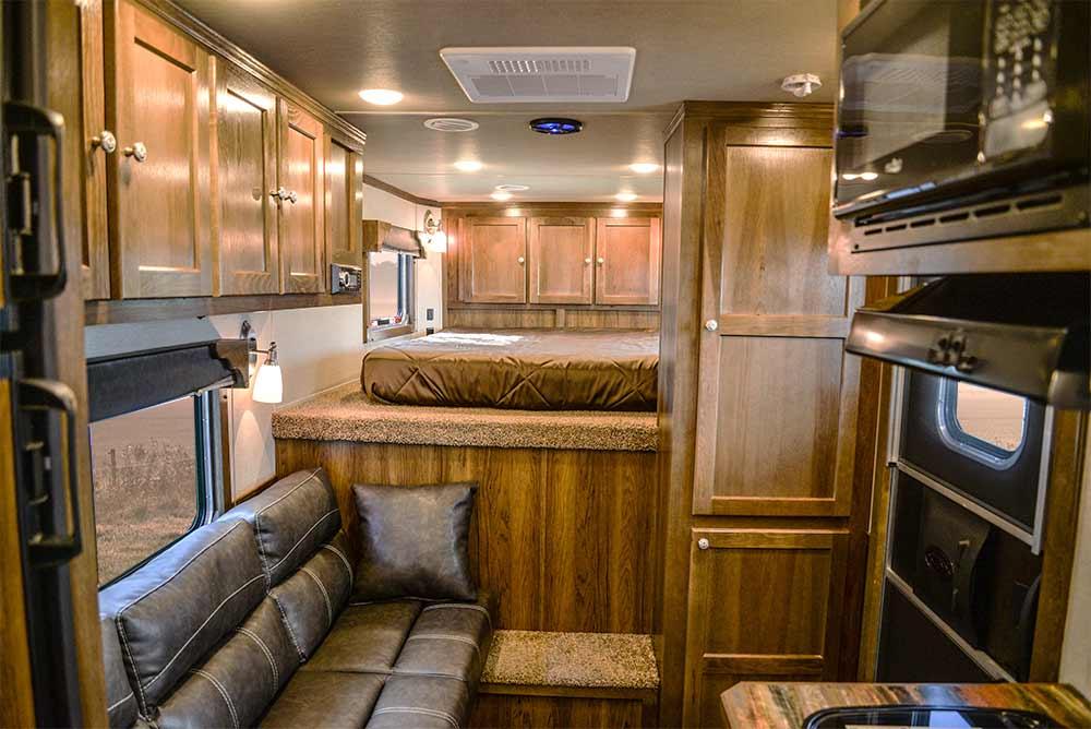 Living Area in a SLX10RK Laramie Horse Trailers | SMC Trailers