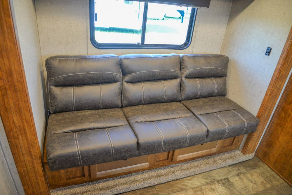 Sofa in a SP8X11SFK Patriot Edition Horse Trailer | SMC Trailers