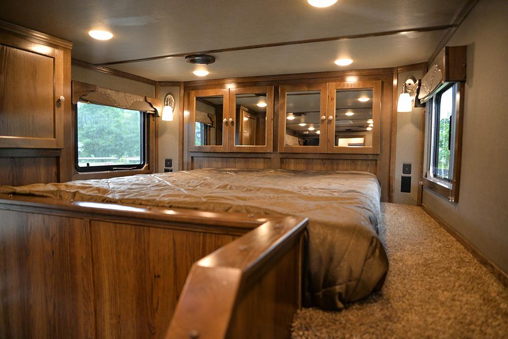 Bedroom in Laramie Livestock SLE8X1413SSR (With Bunks) | SMC Trailers