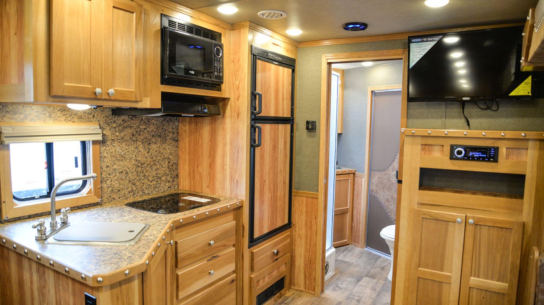 Kitchen in SLE81613SSRT Livestock Edition | SMC Trailers