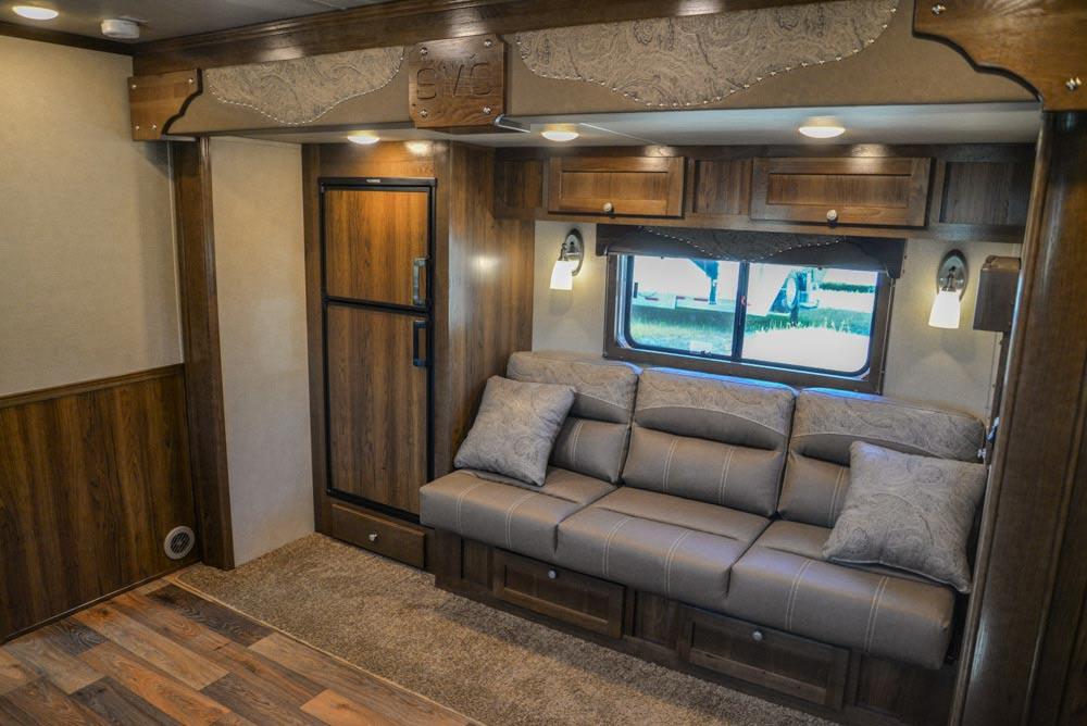 Sofa in Laramie Livestock SLE8X15SRKCE | SMC Trailers