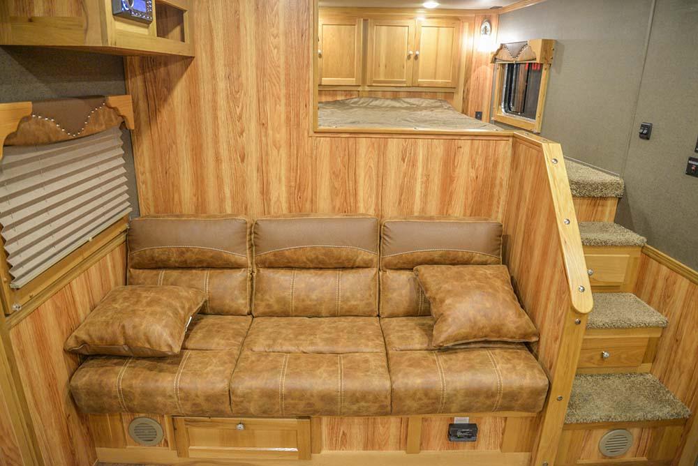 Sofa Bed Laramie SL8X16SSR Horse Trailer | SMC Trailers