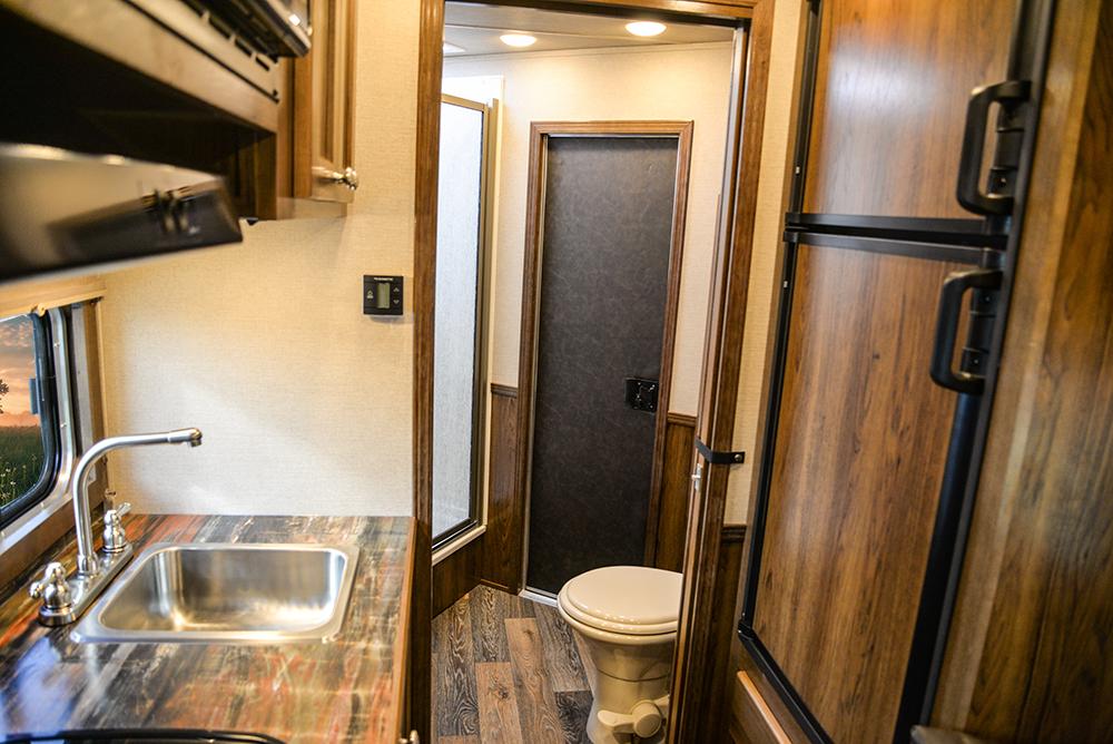 Rear Half of Living Area in a SLX10RK Laramie Horse Trailers | SMC Trailers