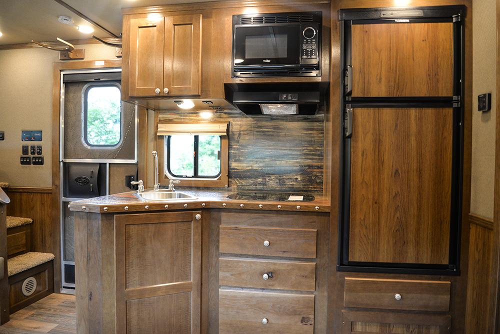 Kitchen in Laramie Livestock SLE8X1413SSR (With Bunks) | SMC Trailers