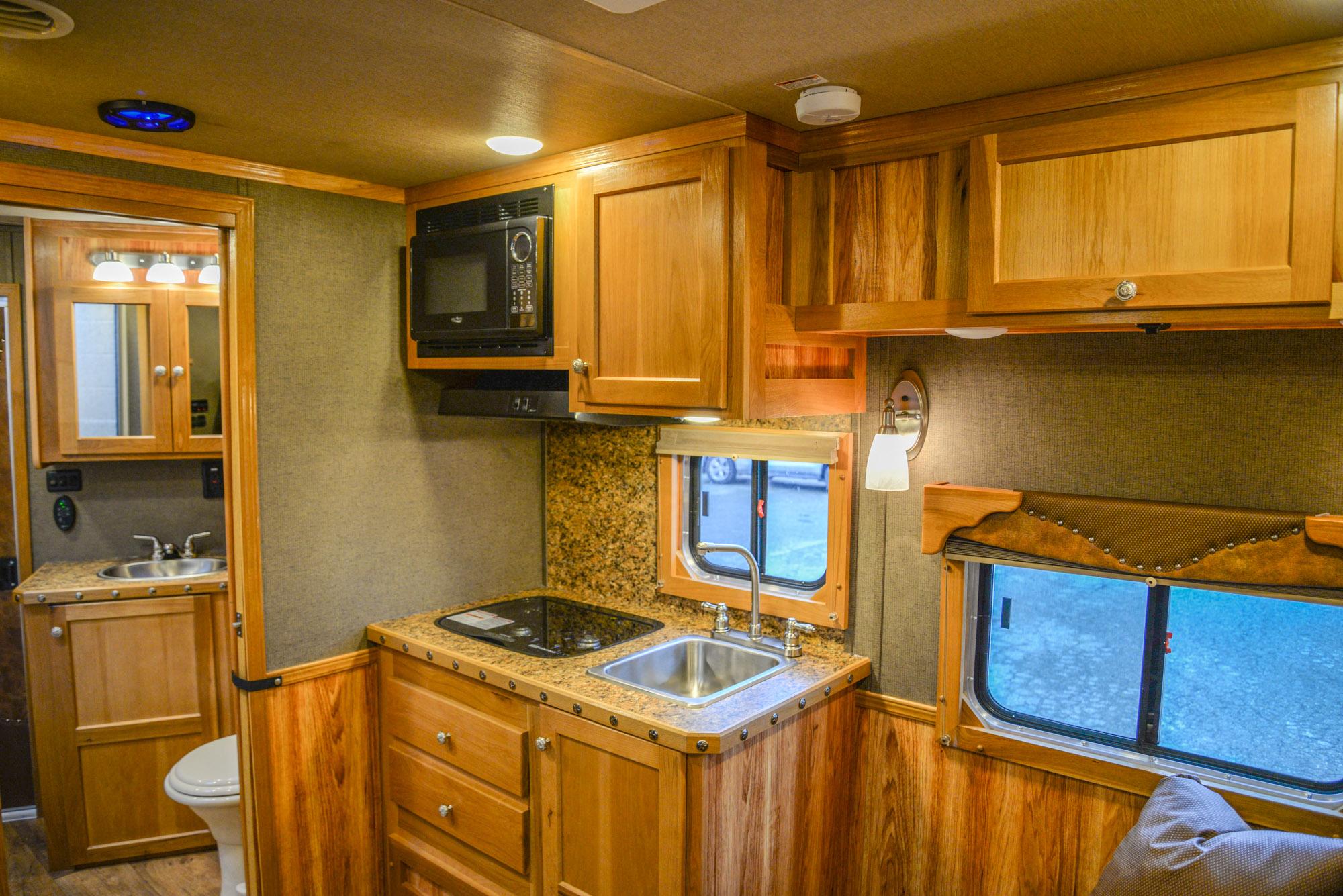 Kitchen in a Laramie SL8X11SR | SMC Horse Trailers