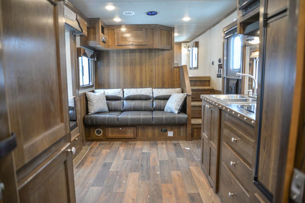 Living Quarters in a SL8X14SSR Laramie Edition Horse Trailer | SMC Trailers