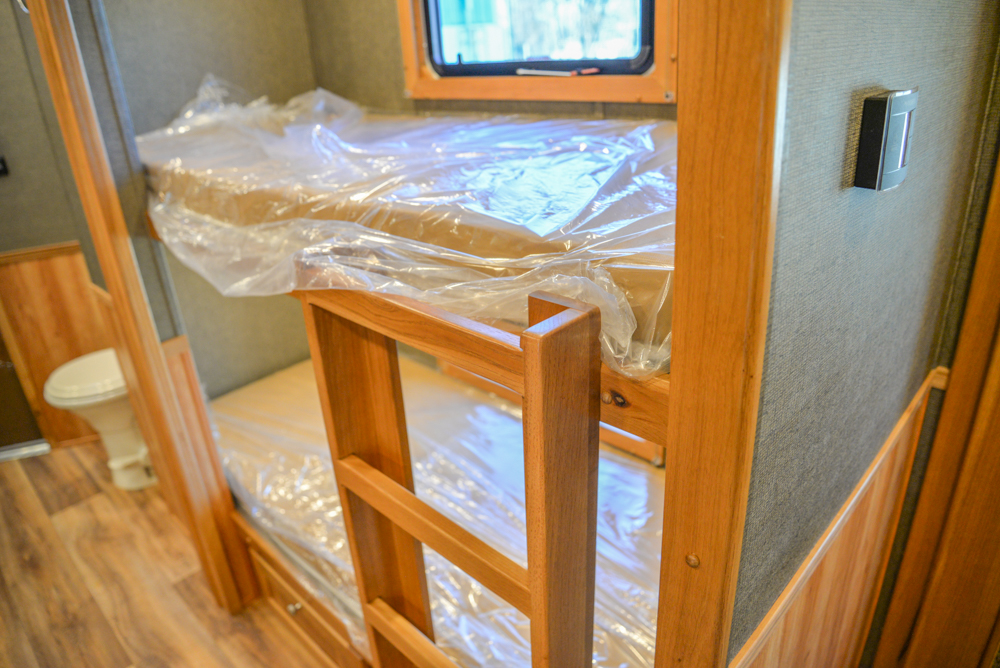 Bunk Beds in a SL8X16BB Laramie Horse Trailer | SMC Trailers